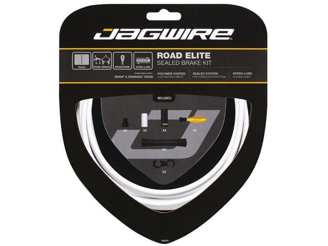 Jagwire Road Elite Sealed Kit de câbles de frein, white